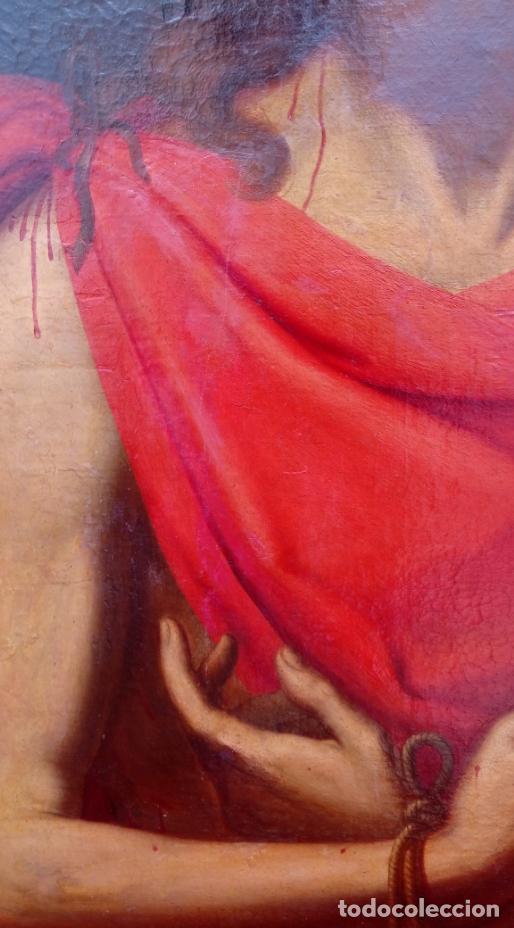 Arte: ÓLEO S/LIENZO -ECCE HOMO- S. XVII. DIM.- 103,5X82 CMS.MUY BIEN ENMARCADO. - Foto 8 - 223685695