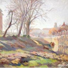 Arte: SANTIAGO SOTO VILLENA (BARCELONA, 1902 - ?) OLEO SOBRE TELA. PAISAJE. Lote 223761998
