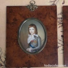 Arte: MINIATURA RETRATO INFANTE EN ACUARELA. Lote 223909146