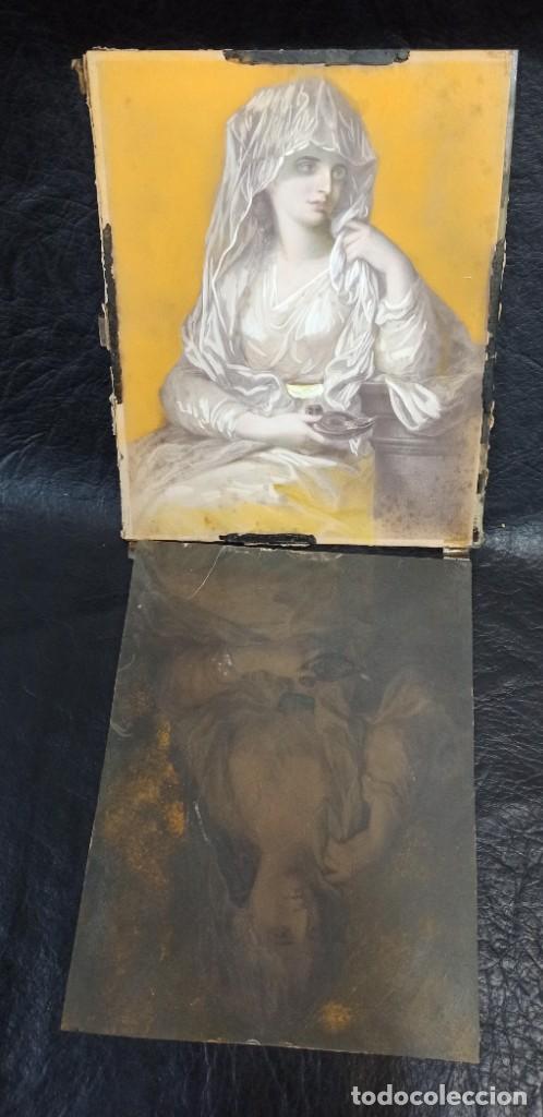 Arte: Pintura superpuesta. Alegoría de la parábola de las 10 vírgenes.Siglo XIX. Of. - Foto 5 - 223915327