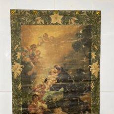 Arte: PINTURA RELIGIOSA SOBRE TELA SIGLO XVII . SAN ANTONIO DE PADUA CON EL NIÑO JESÚS, 95X65 CM .. Lote 223926805