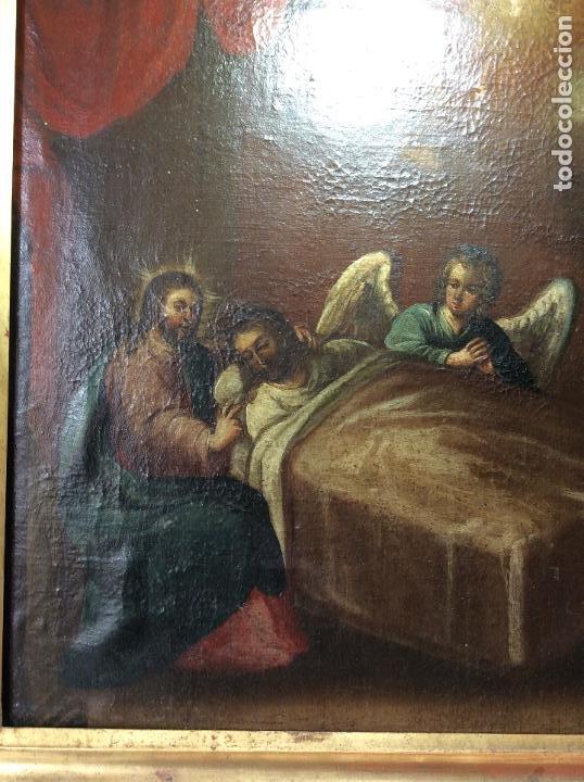 Arte: Óleo Religioso siglo XVIII, representando la Lamentación sobre Cristo - Foto 2 - 223929900