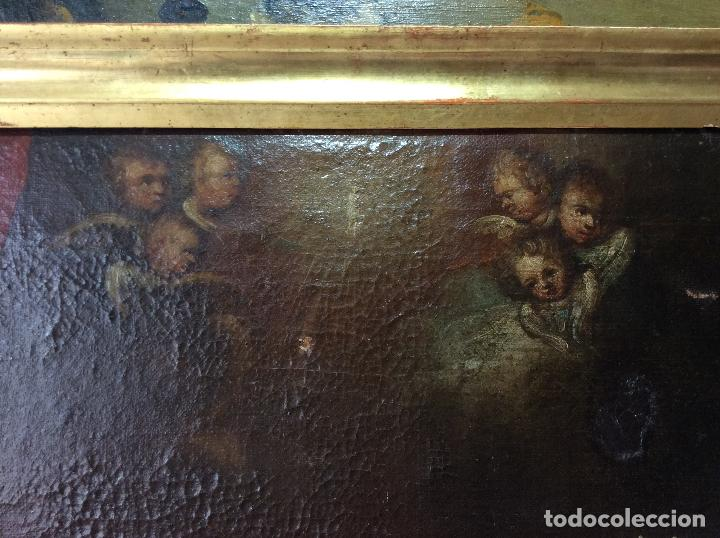 Arte: Óleo Religioso siglo XVIII, representando la Lamentación sobre Cristo - Foto 3 - 223929900