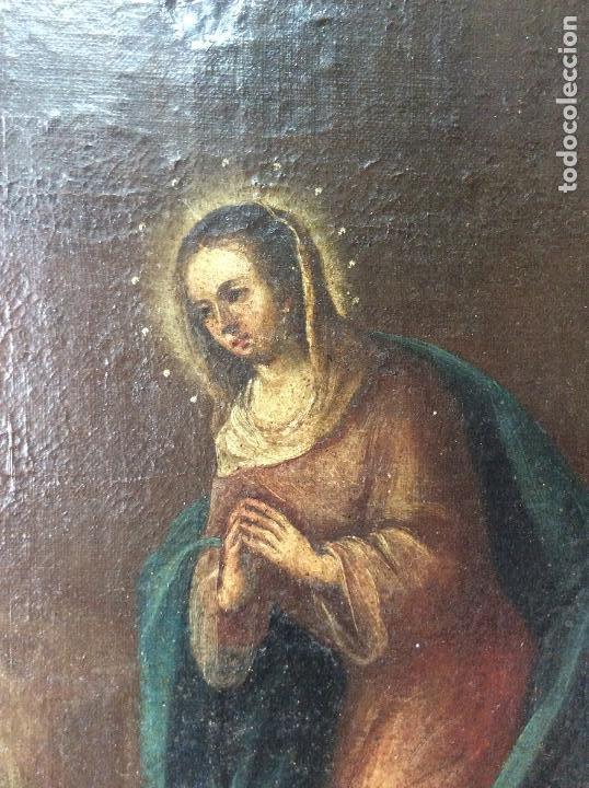 Arte: Óleo Religioso siglo XVIII, representando la Lamentación sobre Cristo - Foto 5 - 223929900