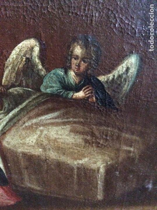 Arte: Óleo Religioso siglo XVIII, representando la Lamentación sobre Cristo - Foto 6 - 223929900