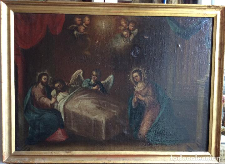 Arte: Óleo Religioso siglo XVIII, representando la Lamentación sobre Cristo - Foto 7 - 223929900