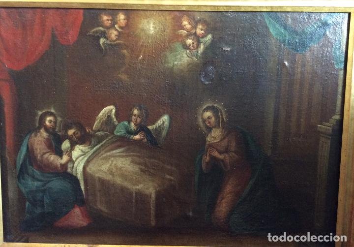 Arte: Óleo Religioso siglo XVIII, representando la Lamentación sobre Cristo - Foto 8 - 223929900