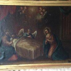 Arte: ÓLEO RELIGIOSO SIGLO XVIII, REPRESENTANDO LA LAMENTACIÓN SOBRE CRISTO. Lote 223929900