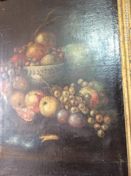 Arte: Óleo sobre lienzo representando Bodegón Naturaleza Muerta ,siglo XVIII - Foto 4 - 223930006