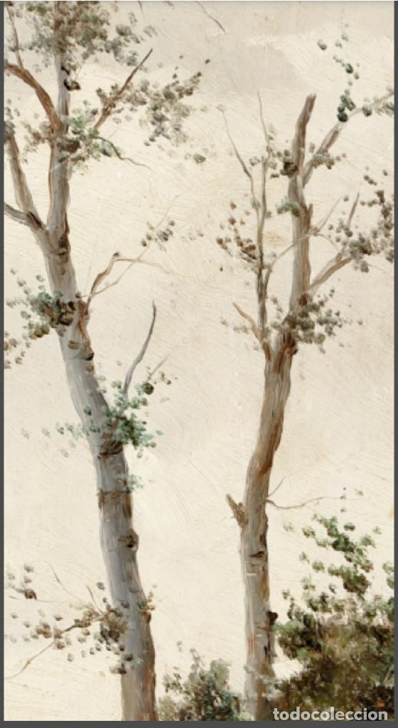 Arte: ANDRES SANDOVAL HUERTAS. SIGLO XIX. RIO EN OTOÑO. OLEO SOBRE TABLA 40X20,5. - Foto 4 - 223944642