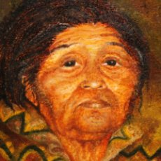 Arte: AMALIA RONZONI (BUENOS AIRES, 1954) OLEO SOBRE TELA. RETRATO CHIAPA. Lote 224017957
