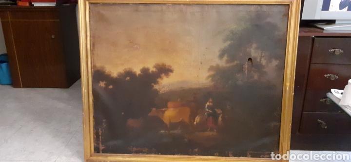 OLEO SOBRE LIENZO.ESCUELA HOLANDESA, SIGLO XVIII (Arte - Pintura - Pintura al Óleo Antigua sin fecha definida)