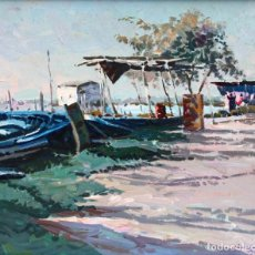 Arte: JOSEP Mª VILA CAÑELLAS (1913 - 2001) OLEO SOBRE TABLEX. VISTA DE UN PAISAJE COSTERO. Lote 224124970