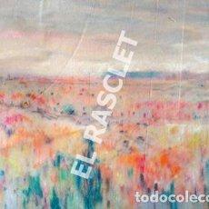 Arte: PAISATGE PINTURA SOBRE CARTRÓ I PAPER BELLUT. Lote 224207608