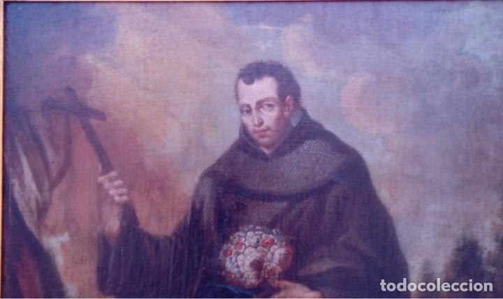 Arte: ÓLEO S/LIENZO -FRAY DIEGO DE ALCALÁ-, S. XVII. ATRIBUÍDO A MATÍAS ARTEAGA -O A SU TALLER-112.5X84.5 - Foto 3 - 224385347