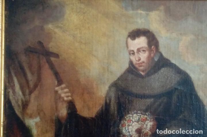 Arte: ÓLEO S/LIENZO -FRAY DIEGO DE ALCALÁ-, S. XVII. ATRIBUÍDO A MATÍAS ARTEAGA -O A SU TALLER-112.5X84.5 - Foto 4 - 224385347
