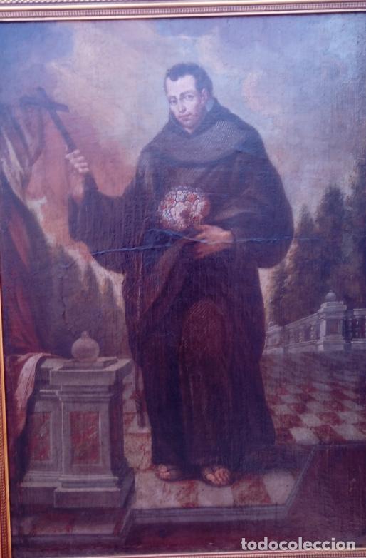 Arte: ÓLEO S/LIENZO -FRAY DIEGO DE ALCALÁ-, S. XVII. ATRIBUÍDO A MATÍAS ARTEAGA -O A SU TALLER-112.5X84.5 - Foto 5 - 224385347