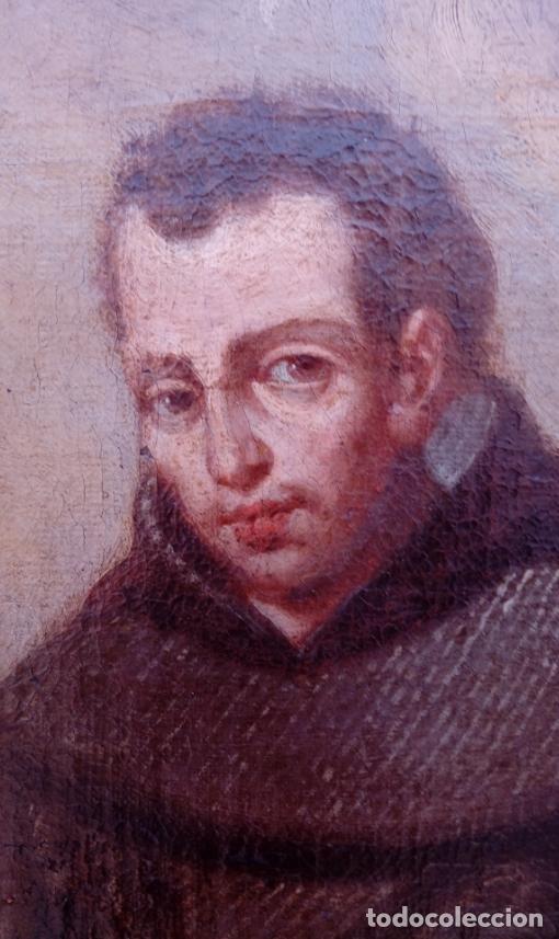 Arte: ÓLEO S/LIENZO -FRAY DIEGO DE ALCALÁ-, S. XVII. ATRIBUÍDO A MATÍAS ARTEAGA -O A SU TALLER-112.5X84.5 - Foto 7 - 224385347