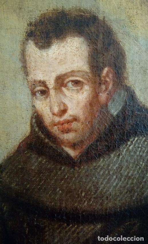 Arte: ÓLEO S/LIENZO -FRAY DIEGO DE ALCALÁ-, S. XVII. ATRIBUÍDO A MATÍAS ARTEAGA -O A SU TALLER-112.5X84.5 - Foto 8 - 224385347