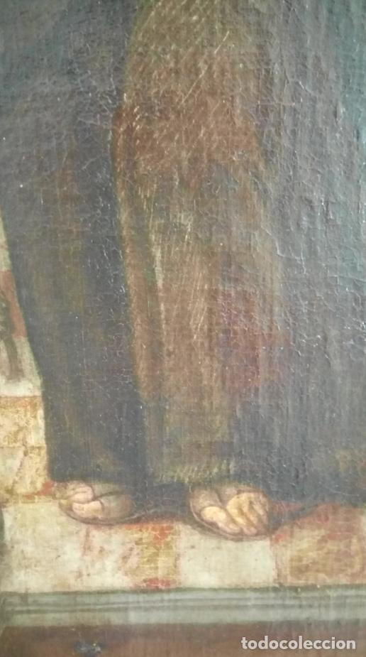 Arte: ÓLEO S/LIENZO -FRAY DIEGO DE ALCALÁ-, S. XVII. ATRIBUÍDO A MATÍAS ARTEAGA -O A SU TALLER-112.5X84.5 - Foto 14 - 224385347