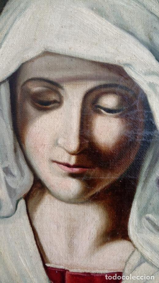 Arte: ÓLEO S/LIENZO -VIRGEN ORANTE-. ESCUELA ITALIANA SASSOFERRATO S. XVIII-XIX. DIM.- 45.5X37 CMS - Foto 5 - 224525291