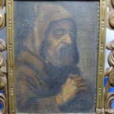 Arte: EXCELENTE ÓLEO SOBRE TELA ILEGIBLE DEL SIGLO XVII.ESCUELA CASTELLANA.PORTAFOTO DE BRONCE DE EPOCA.. Lote 224548973