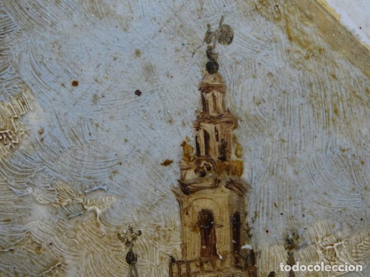 Arte: ÓLEO SOBRE AZULEJO DE SIGLO XIX CON FIRMA ILEGIBLE.SEVILLA. - Foto 13 - 224550196