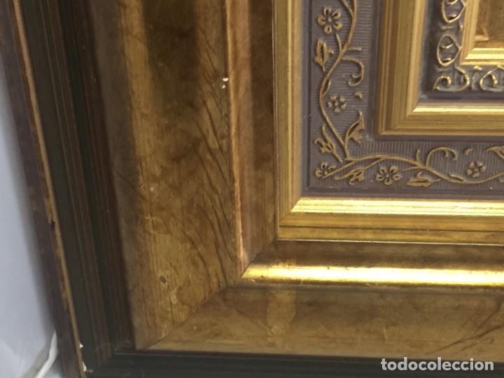Arte: José Vela Zanetti, oleo sobre Tablex, serie Cid Campeador. firmado con marco 36 x 21 cms. - Foto 10 - 224601463
