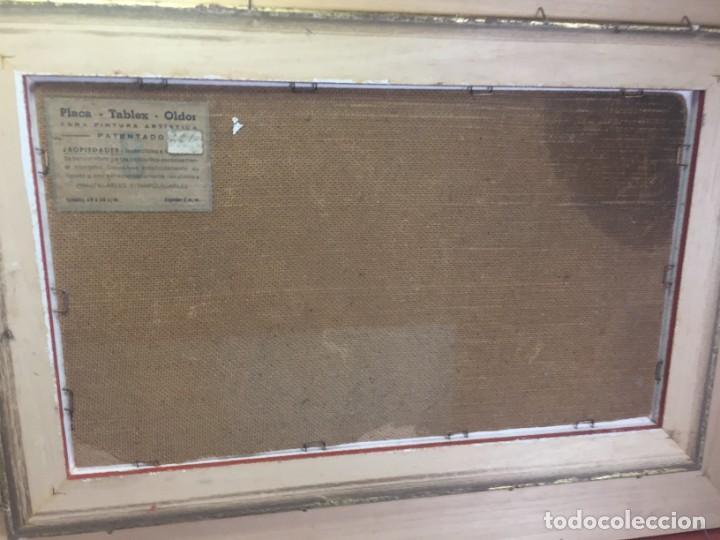 Arte: José Vela Zanetti, oleo sobre Tablex, serie Cid Campeador. firmado con marco 36 x 21 cms. - Foto 12 - 224601463