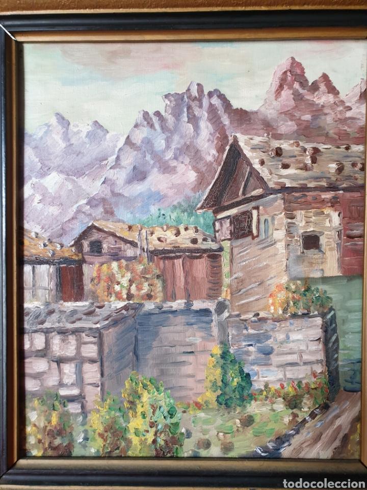 ANTIGUO CUADRO ÓLEO SOBRE LIENZO (Arte - Pintura - Pintura al Óleo Moderna sin fecha definida)