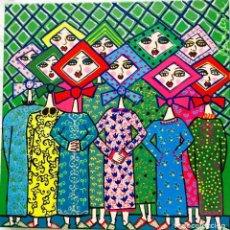 Arte: JARABANDINAS OBRA DE RUTH CALDERÍN (LPGC, 1977) FIRMADA Y FECHADA.DIMENSIONES 40X40X5CM. Lote 224729071