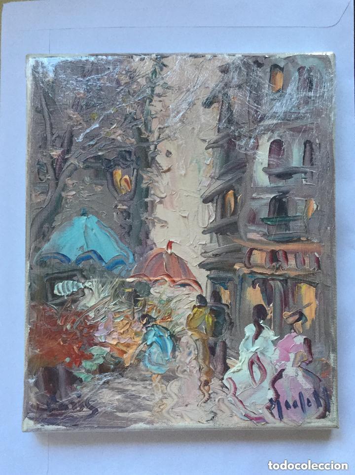 Arte: OLEO SOBRE LIENZO - PARIS - ANDRES GRIFELL - 27x22cm - Foto 2 - 224776555