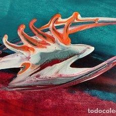 Arte: INTERESANTE PINTURA - FIRMADA HOYOS - ÓLEO SOBRE CARTÓN - AÑO 78 - EXTRAÑA PINTURA ARTÍSTICA - RARO. Lote 224778771