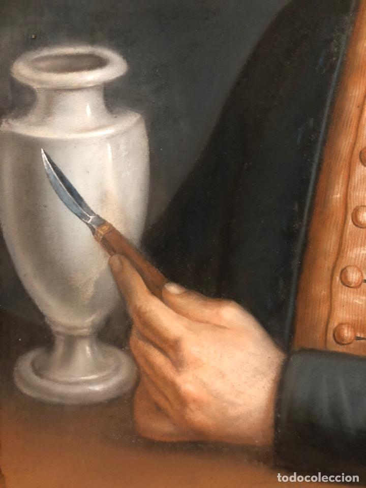 Arte: Maurice Mouton ( Etuz, 1765 - Besancon, 1840?) Retrato de maestro ceramista - Foto 8 - 224856311