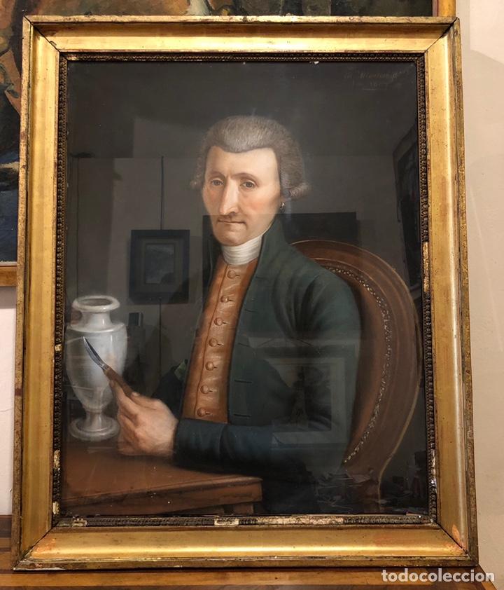 Arte: Maurice Mouton ( Etuz, 1765 - Besancon, 1840?) Retrato de maestro ceramista - Foto 2 - 224856311