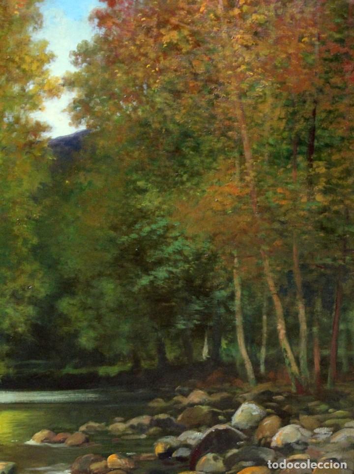 Arte: ANTONI ROS Y GÜELL (Barcelona, 1873 - Badalona, 1954) OLEO SOBRE TELA. PAISAJE. 100 X 100 CM. - Foto 6 - 224857577