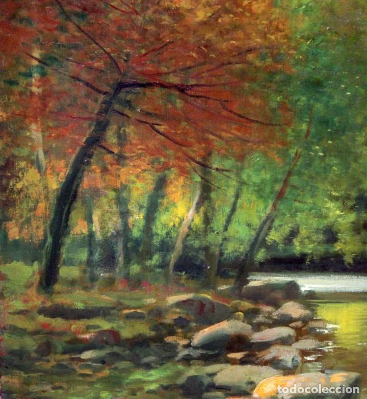 Arte: ANTONI ROS Y GÜELL (Barcelona, 1873 - Badalona, 1954) OLEO SOBRE TELA. PAISAJE. 100 X 100 CM. - Foto 7 - 224857577