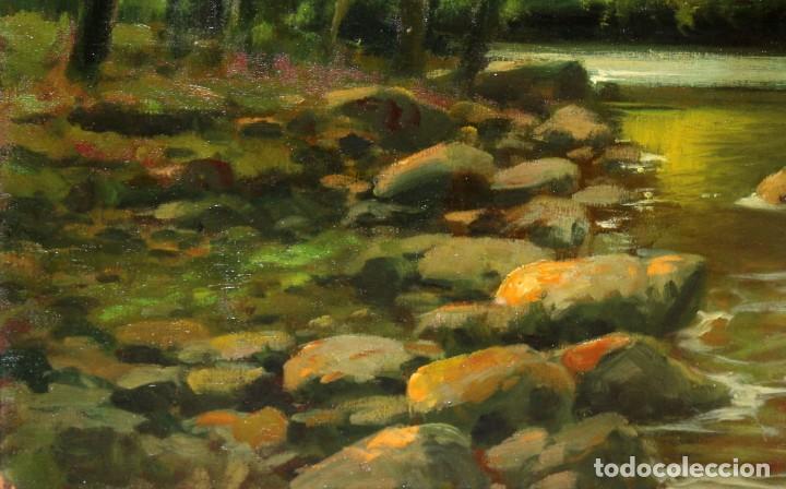 Arte: ANTONI ROS Y GÜELL (Barcelona, 1873 - Badalona, 1954) OLEO SOBRE TELA. PAISAJE. 100 X 100 CM. - Foto 9 - 224857577