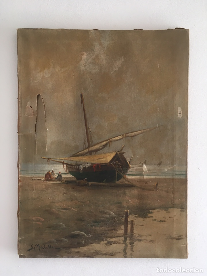 SEGUNDO MATILLA Y MARINA ( MADRID 1862-BARCELONA 1937) ÓLEO DE TEMÁTICA PAISAJISTICA (Arte - Pintura - Pintura al Óleo Antigua sin fecha definida)