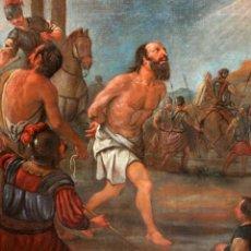 Arte: ESCUELA ESPAÑOLA DEL SIGLO XVIII. OLEO SOBRE TELA. ESCENA DE LA PASION. Lote 224864863