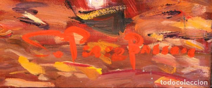 Arte: SALVADOR PEREZ BASSOLS (Barcelona, 1948) OLEO SOBRE TELA. GOLFISTA. 93 X 68 CM. - Foto 9 - 224866133