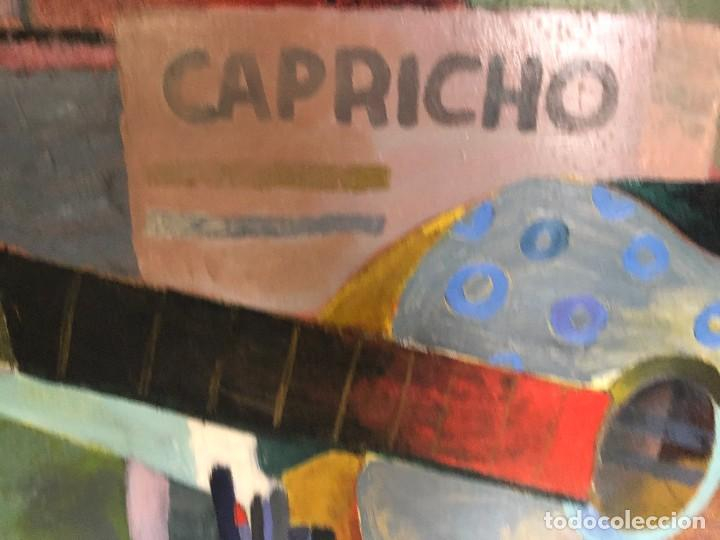 Arte: MAGNIFICA GUITARRA Y ESCENA CUBISTA, FIRMADA OLMOS, AÑOS 50 - Foto 6 - 224894553