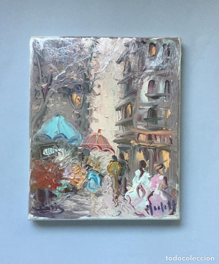 OLEO SOBRE LIENZO - PARIS - ANDRES GRIFELL - 27X22CM (Arte - Pintura - Pintura al Óleo Moderna sin fecha definida)
