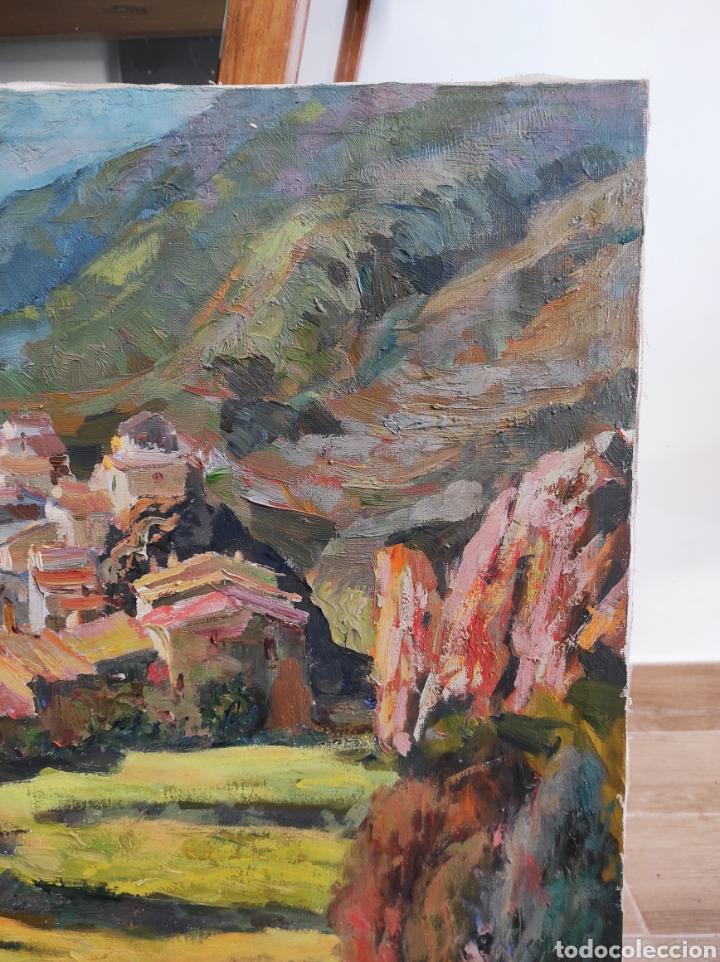 Arte: PINTURA CATALANA OLEO SOBRE TELA, FIRMA GUELL Castellar de Nhug. 54x65cm - Foto 7 - 224987071