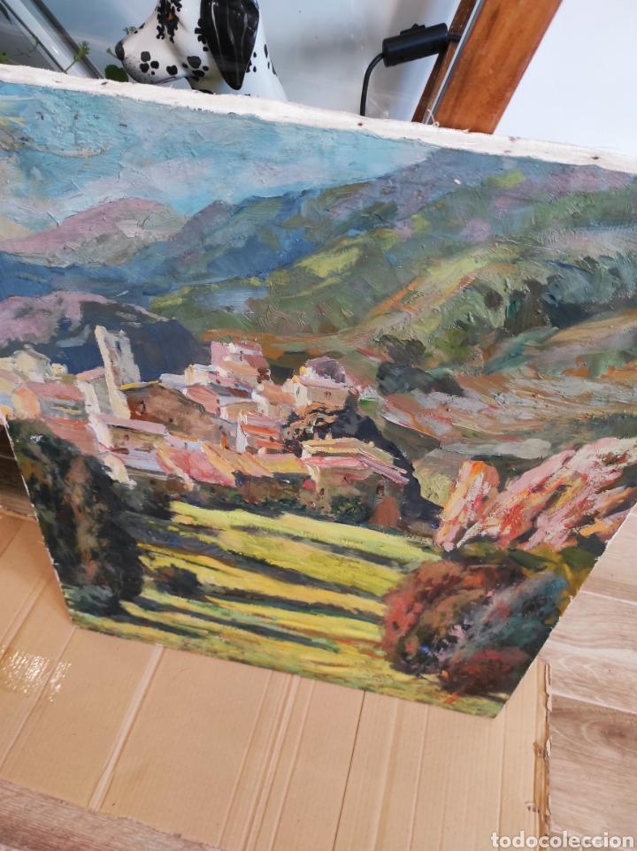 Arte: PINTURA CATALANA OLEO SOBRE TELA, FIRMA GUELL Castellar de Nhug. 54x65cm - Foto 8 - 224987071
