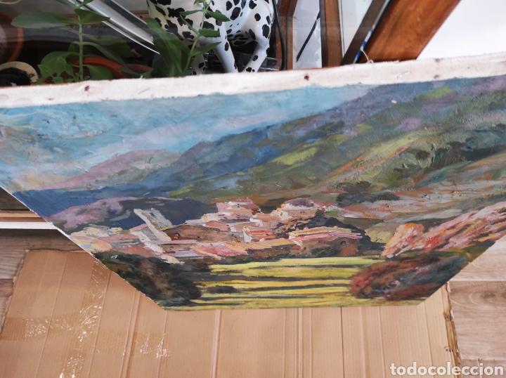 Arte: PINTURA CATALANA OLEO SOBRE TELA, FIRMA GUELL Castellar de Nhug. 54x65cm - Foto 9 - 224987071