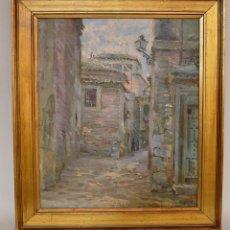 Arte: JOAQUIN CAPULINO JAUREGUI (MALAGA,1879 - GRANADA,1969) CALLE DEL ALBAICIN. Lote 225034252