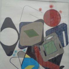 Arte: ¡¡ PINTURA ABSTRACTA, CUBISMO. TANGO. FIRMADO - GABARRI. 1978. !!. Lote 225113060