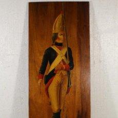 Arte: GRANADERO 1776 - MADERA OLEO FIRMADO. Lote 225231473