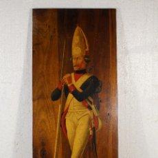 Arte: GRANADERO 1777 - MADERA OLEO FIRMADO. Lote 225232380